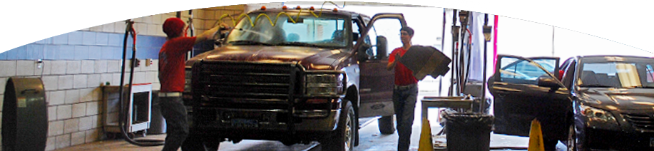 Red carpet car wash home two young men washing a truck in the carwash solutioingenieria Gallery
